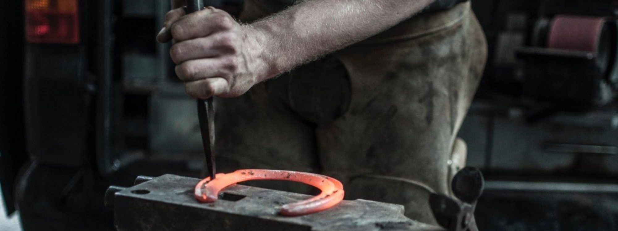 farrier and horse shoe
