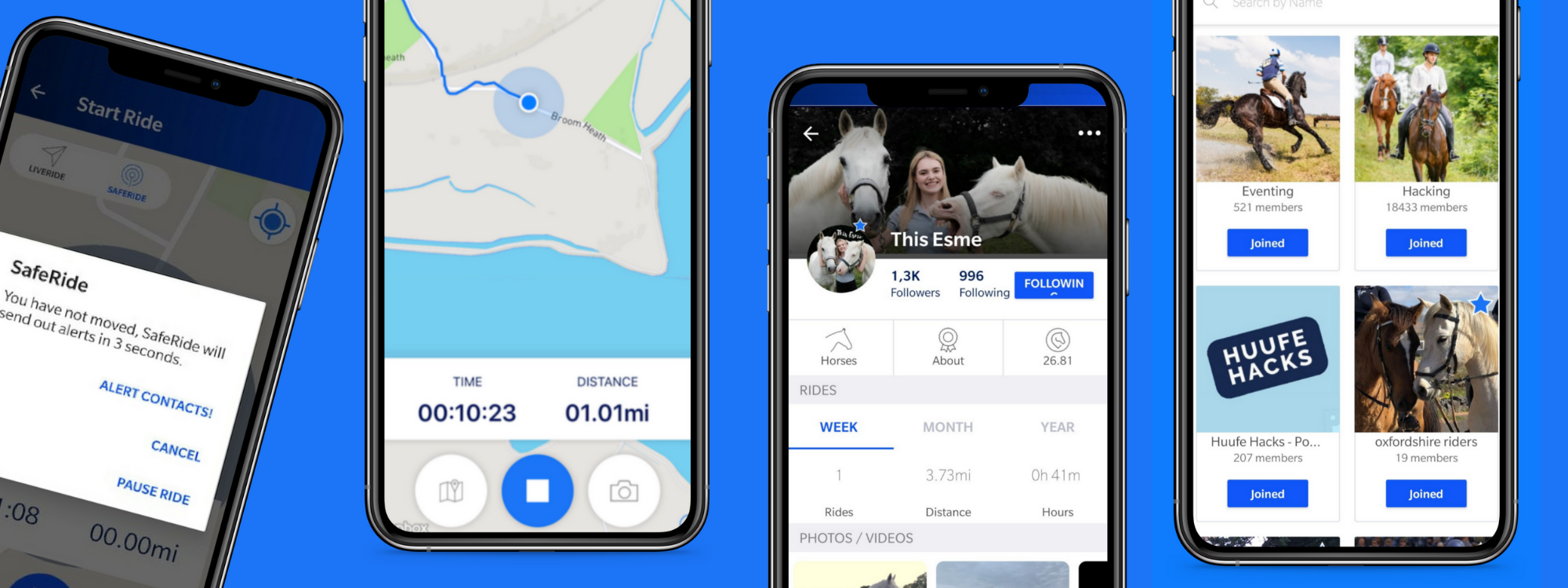 huufe the horse riding safety app screenshots